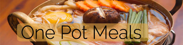 one pot meals banner